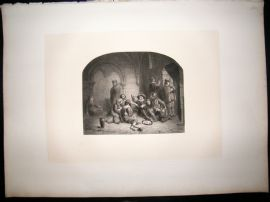 After Bouvy 1854 LG Folio Steel Engraving. The Prison Group